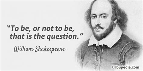 To Or Not To by William Shakespeare Quotes Tribupedia