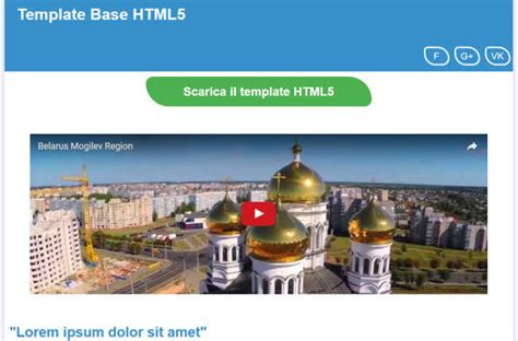 html 5 base template base per template html5 responsive