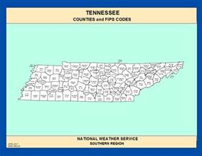 Tennessee Zip Code Map by Maps Tennessee Counties And Fips Codes