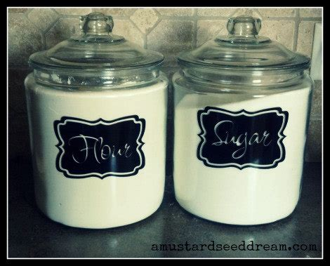 kitchen canister labels kitchen accessory by mustardseeddream