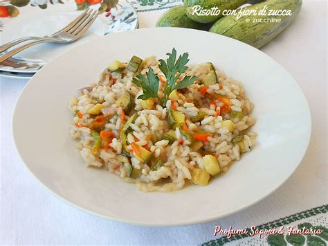 risotto con i fiori di zucchina risotto con fiori di zucca e zucchine profumi sapori