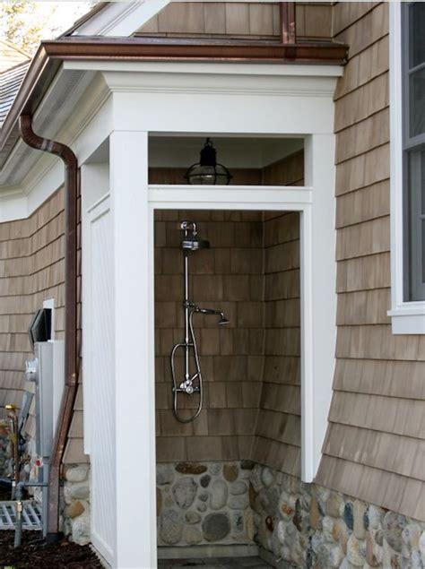 outdoor shower copper outdoor shower foundation cape cod lantern