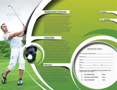 golf brochure templates golf tournament trifold brochure template by