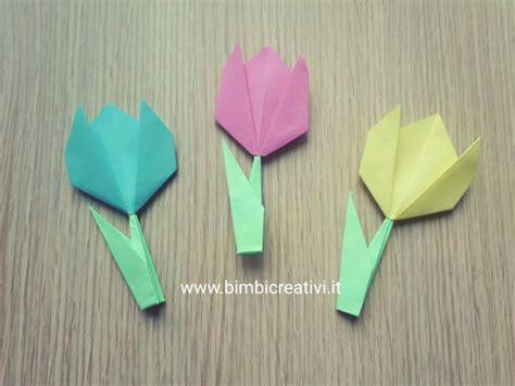 origami fiori tulipani origami bimbi creativi