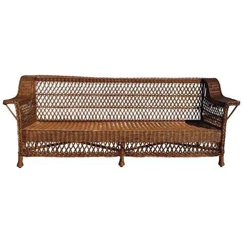 antique wicker loveseat antique bar harbor wicker sofa for sale at 1stdibs