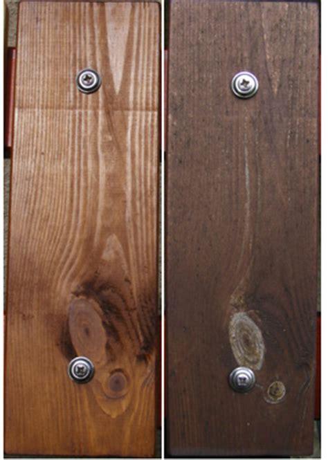 Holz Dunkelbraun Lasieren by Reintechnisch De Lasurenlangzeittest
