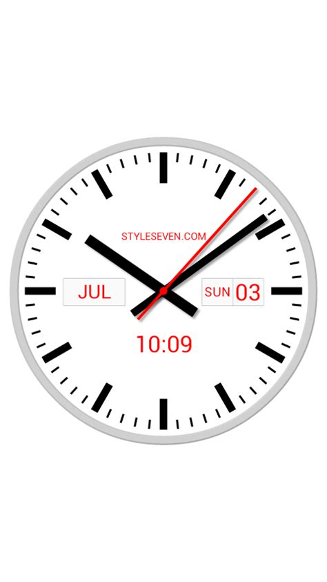 Swiss Time Analog Digital swiss analog clock 7 android apps on play
