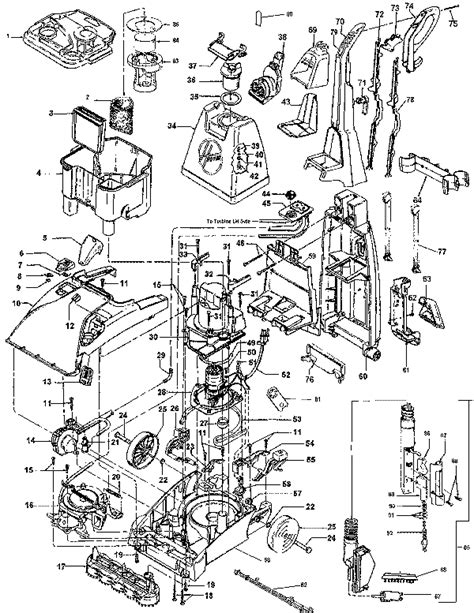 hoover steamvac parts diagram hoover f5905 steamvac spinscrub carpet cleaner parts