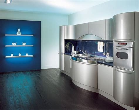 the futuristic inspiration of metal kitchen cabinets 21 sleek and modern metal kitchen designs