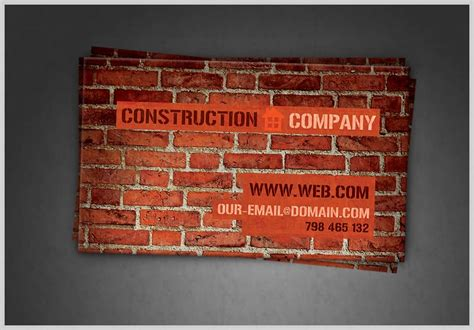 builders business cards psd templates 38 free psd business card templates 85ideas