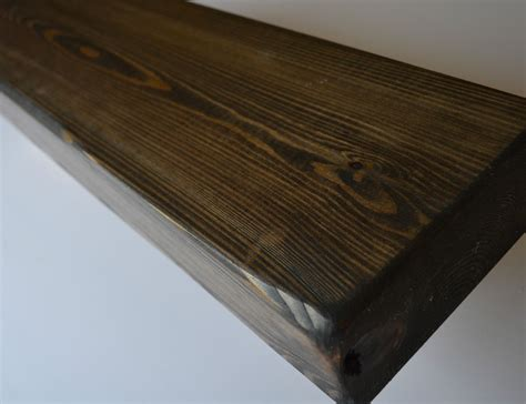 6 quot x 3 quot solid wood floating shelf mantle chunky rustic