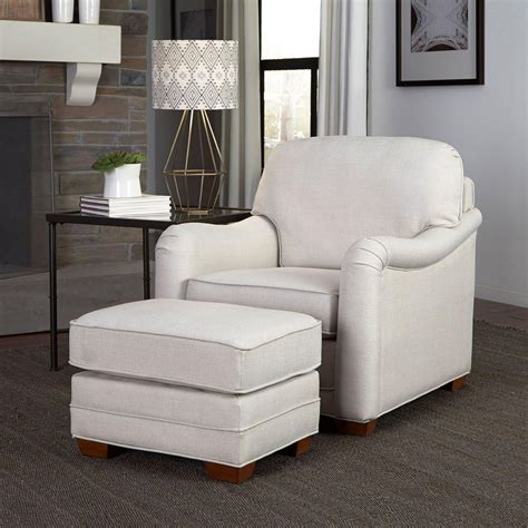 white armchair with ottoman home styles heather off white arm chair with ottoman 5205