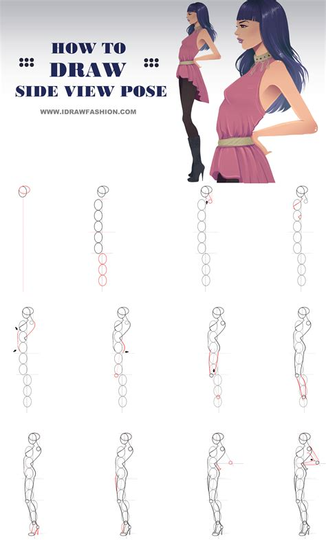figure drawing models on pinterest figure drawing how to draw a side view model pose in fashion sketches