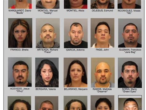 48 gangsters arrested names released los gatos ca patch