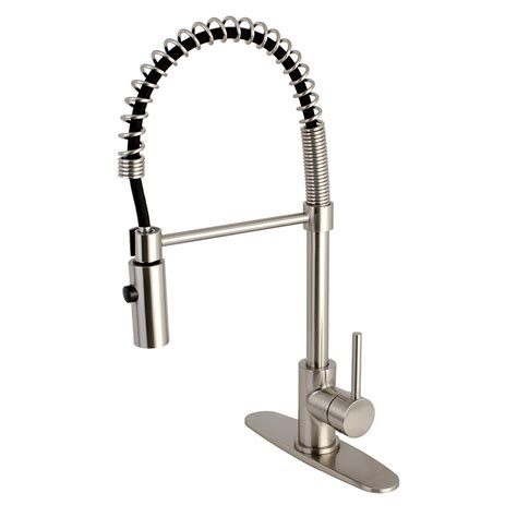kingston brass modern single handle pull down sprayer kingston brass contemporary single handle pull down