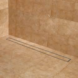 48 quot cohen linear shower drain with drain flange