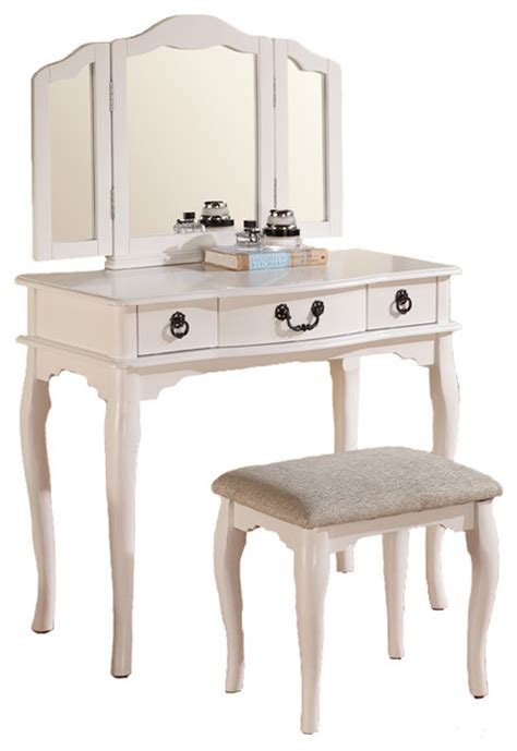 Vanity With Fold Up Mirror by Shop Houzz Adarn Enchanting Up Table Vanity Set Tri