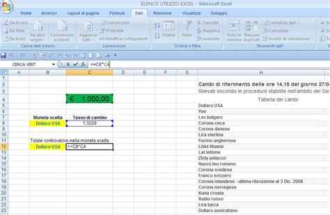 valute d italia excel easy excel facile come fare un cambio valuta con excel