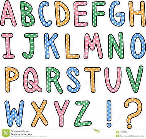 dot pattern alphabet hand drawn alphabet text stock illustration image 46166156