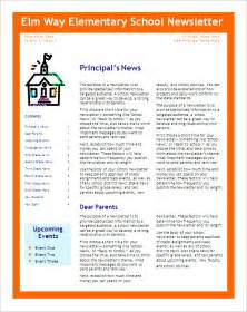 Editable Newsletter Template by 6 School Newsletter Templates Free Word Pdf Format