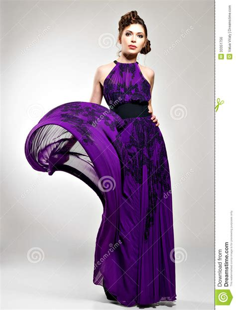 To Dress Violet beautiful fashion in violet dress royalty free stock image image 33351756