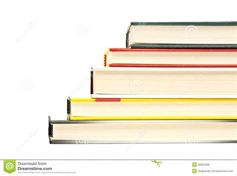book pile up stair ladder shape hard cover isolated