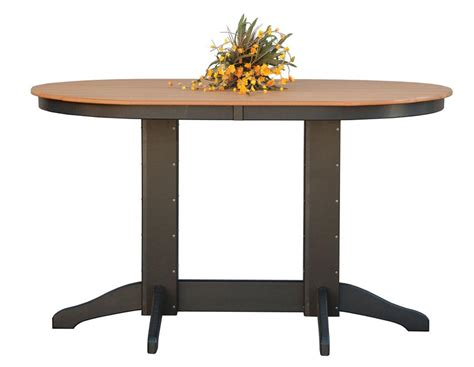 Oval Bistro Table Amish Oval Poly Wood Pub Table