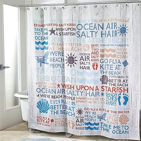 vocabulary shower curtain avanti beach words shower curtain bed bath beyond