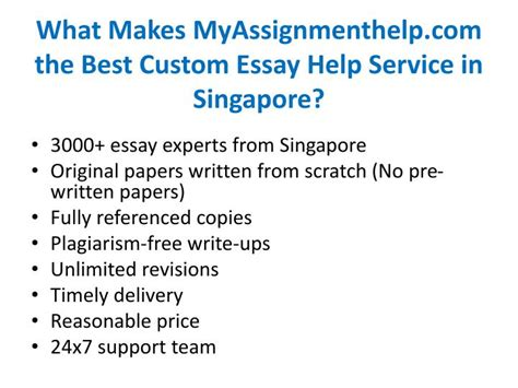 Custom Essay Help by Ppt Custom Essay Help Service In Singapore From Myassignmenthelp Experts Powerpoint