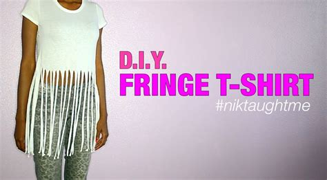 how to make fringe shirts with how to make a fringe t shirt nik
