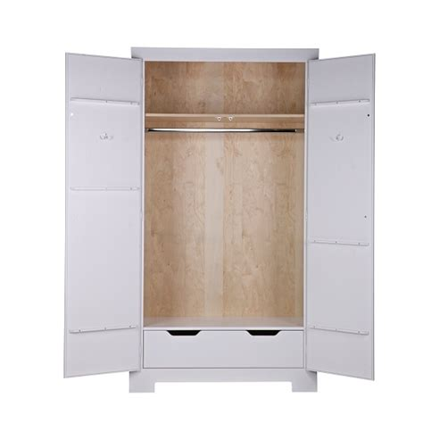 White Wooden Wardrobes Uk by Fusion Wooden Wardrobe In White Pine With 2 Doors 28770