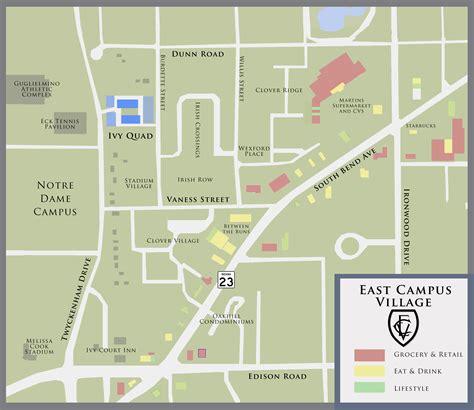 notre dame cus map notre dame s east cus 187 development llc
