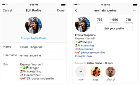 graphic design instagram bio instagram officially introduces hashtag and profile