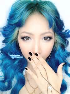 blue colored hair april fool blue hair tutorial ion color