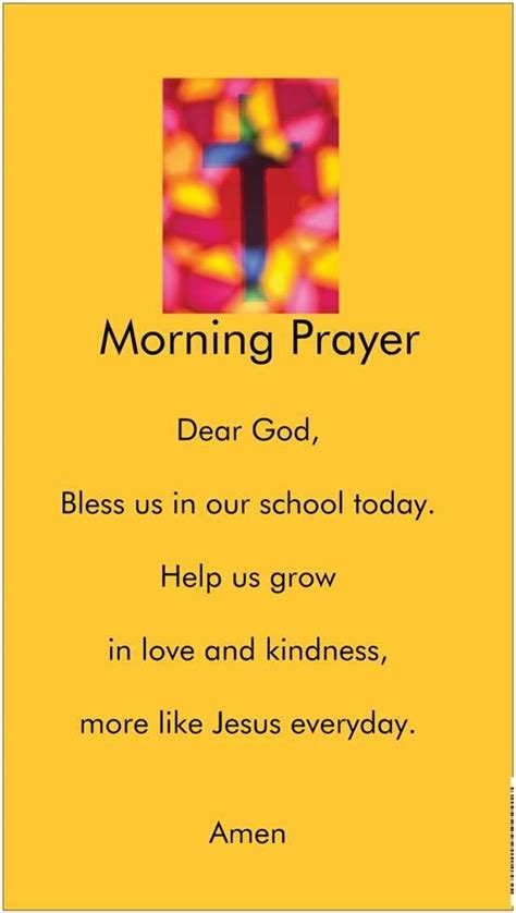 prayer before morning prayers prayer and pre k on