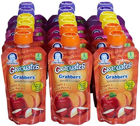 j pouch vegetables gerber graduates grabbers squeezable fruit veggies