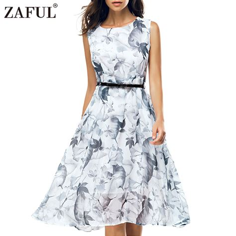 Summer Retro Dress 42553 aliexpress buy zaful 2017 vintage summer dress sleeveless hepburn 50s retro robe