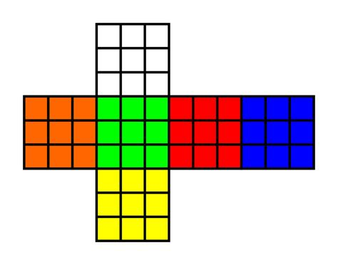 file western color scheme of a rubik s cube svg