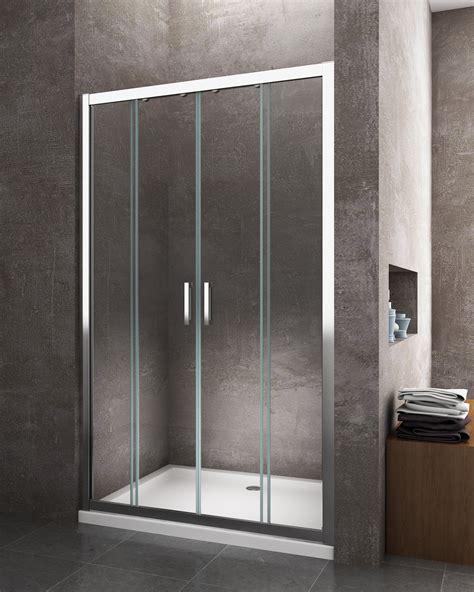 porta cabina doccia 4 ante porta scorrevole nicchia apertura centrale