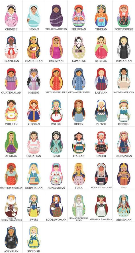 matryoshka pattern pinterest 137 best russian matryoshka dolls images on pinterest