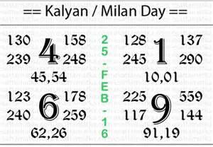 kalyan chart 2011 to 2016 kalyan matka chart 25 feb 2016