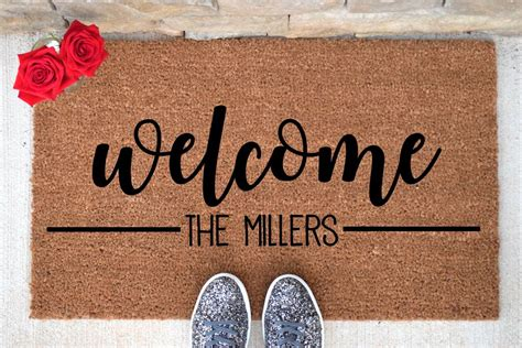 Personalized Doormats by Personalized Door Mat Custom Doormat Custom Last Name