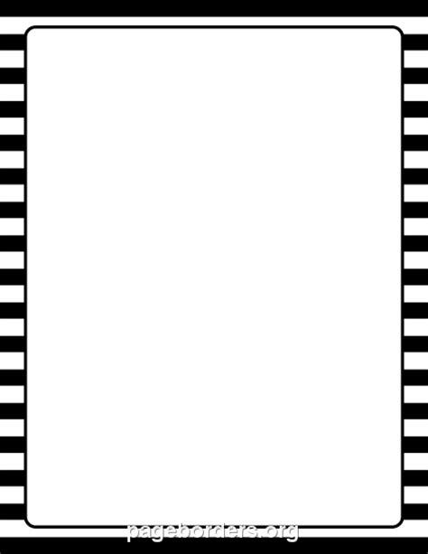 black  white striped border clip art page border