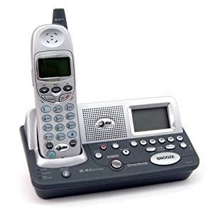 refurbished at t e2120 alarm clock am fm radio cordless phone cordless telephones