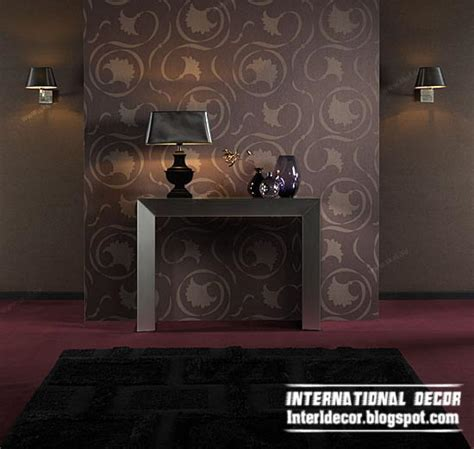 Room Wallpaper Ideas by Modern Living Room Wallpaper Design Ideas Interior