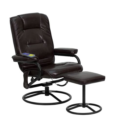 bonded leather chair and ottoman massaging brown bonded leather recliner and ottoman with