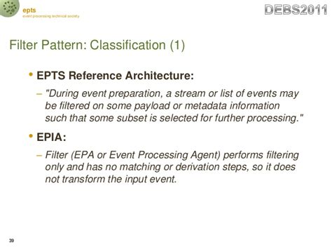 pattern classification tutorial epts debs2011 event processing reference architecture and