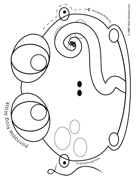 printable animal masks to color animal masks frog mask coloring page craft jr az
