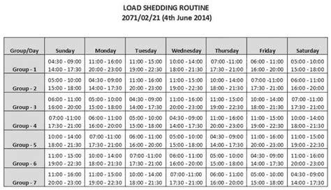 Nea New Load Shedding by Educatenepal New Loadshedding Schedule 21 Jestha 2071