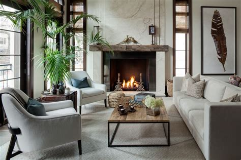 Transitional Living Room With Fireplace Living Room With Concrete Floors By Lg Interiors Zillow